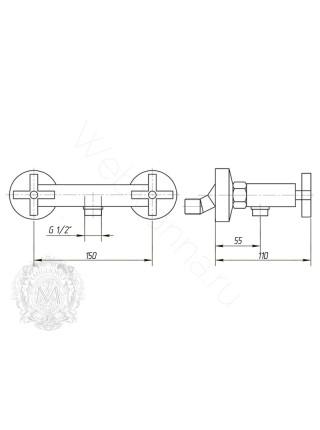 Смеситель для душа Migliore Naxos ML.NAX-7646