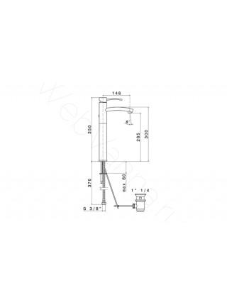 Смеситель для раковины Newform EL-X 60614.21.018