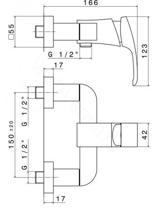 Смеситель для душа Newform X-Sense 62555.21.018