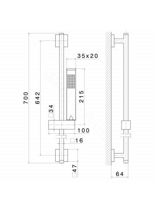 Душевой гарнитур Newform X-Sense 62556.21.018