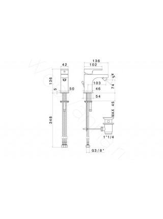 Смеситель для биде Newform X-Light 64025.21.018