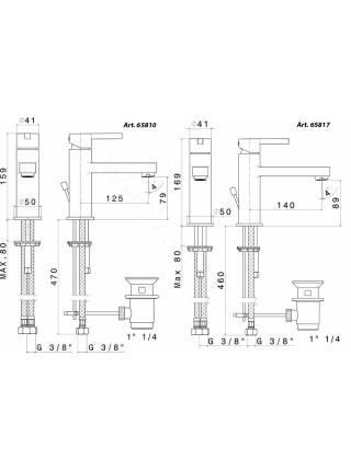 Смеситель для раковины Newform Ergo 65810.05.007, черная вставка