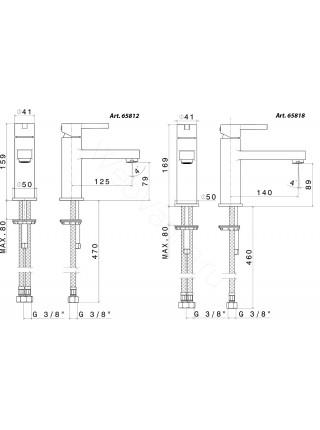 Смеситель для раковины Newform Ergo 65812.21.018