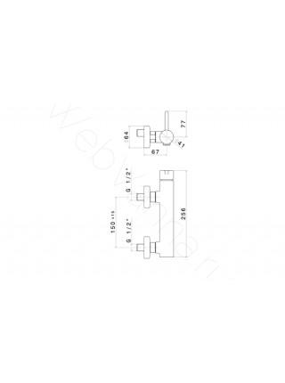 Смеситель для душа Newform Ergo 65855.21.018