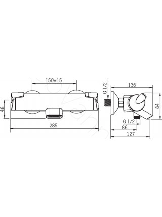 Смеситель для ванны Oras Optima 7149U термостат