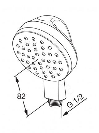 Ручной душ Oras Medipro 242055 с функцией вращения на 360