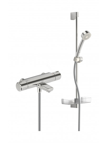 Смеситель для ванны и душа Oras Nova 7448 термостат, с душевым набором Apollo 520