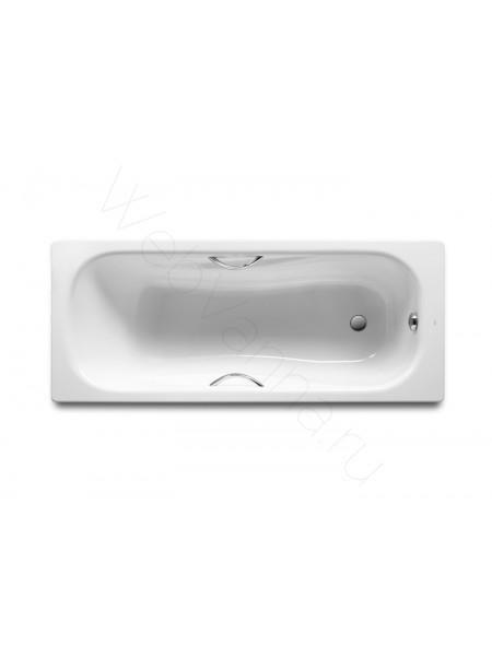 Стальная ванна Roca Princess-N 160x75 с ручками, 2203E0000+291110000