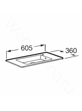 Раковина мебельная Roca Debba Unik 32799H00Y, 60 см