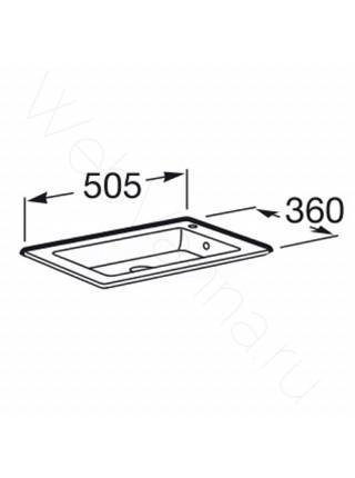 Раковина мебельная Roca Debba Unik 32799J00Y, 50 см