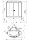 Душевой бокс Radomir Лаура-2 Люкс 128x128 прозрачные стекла