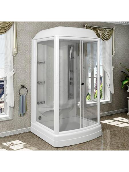 Душевая кабина Radomir Диана-1 118х108 прозрачное, матовое стекло, с паром