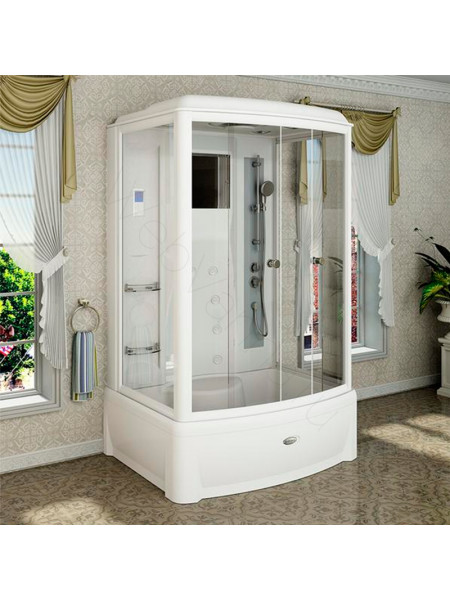Душевая кабина Radomir Диана-2 139х108 прозрачное, матовое стекло, с паром