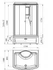 Душевая кабина Radomir Диана-2 139х108 прозрачное, матовое стекло