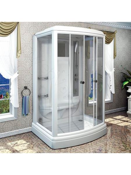Душевая кабина Radomir Диана-3 140х108 прозрачное, матовое стекло, с паром