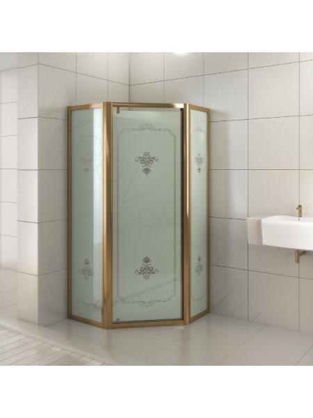 Душевой угол Sole Affetto Calipso 100x100, бронза, стекло матовое