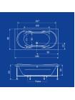 Акриловая ванна Termolux DEMETRA 180х80 Г/М