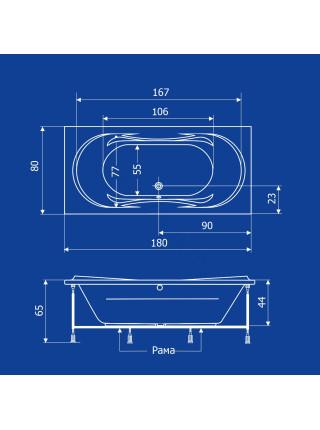 Акриловая ванна Termolux Demetra 180х80