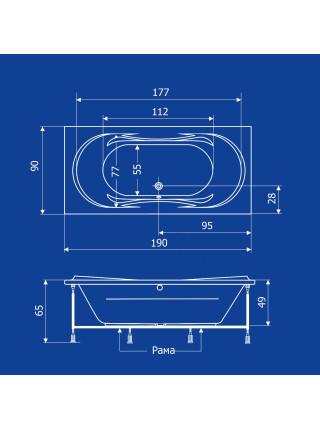 Акриловая ванна Termolux Demetra 190х90