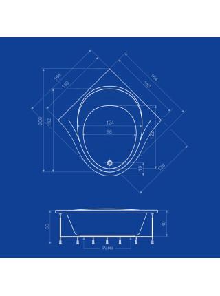 Акриловая ванна Termolux Infinity Life 164х164 Г/М