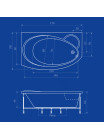 Акриловая ванна Termolux INFINITY MINI 170х105 L/R Г/М