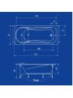 Акриловая ванна Termolux LEDA 170х75