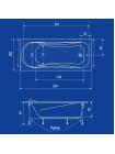 Акриловая ванна Termolux LEDA 180х80