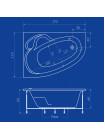 Акриловая ванна Termolux TALIA 170х110 L/R Г/М