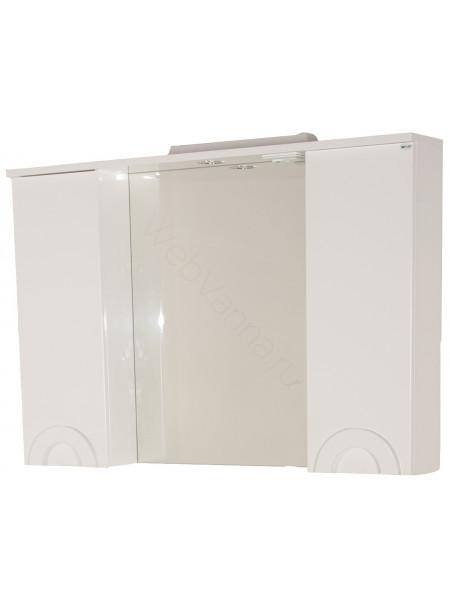 Зеркало-шкаф Topline Antibes 105 см, белый, с подсветкой