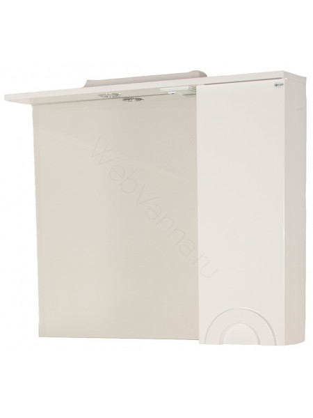 Зеркало-шкаф Topline Antibes 85 см, белый, с подсветкой