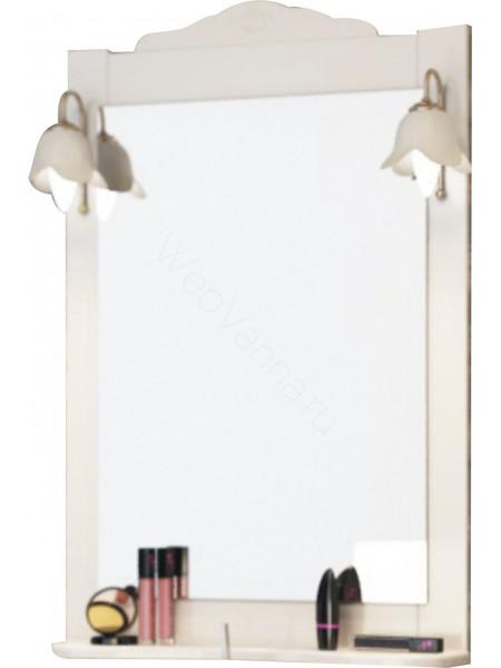 Зеркало-шкаф Topline Classic 65 см, белый матовое, с подсветкой