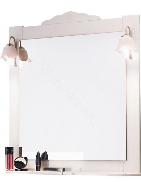 Зеркало-шкаф Topline Classic 80 см, белый матовое, с подсветкой