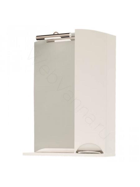 Зеркало-шкаф Topline Gracia 60 см, белый, с подсветкой