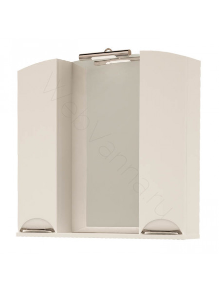 Зеркало-шкаф Topline Gracia 85 см, белый, с подсветкой