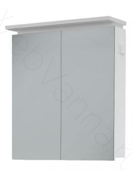 Зеркальный шкаф Topline Monaco 60 см, белый, с подсветкой