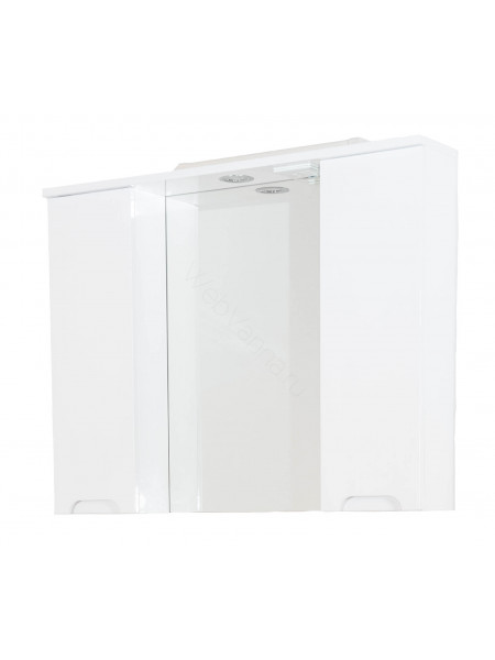 Зеркало-шкаф Topline Rio 90 см, белый, с подсветкой