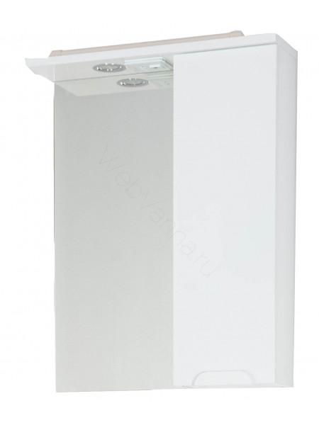 Зеркало-шкаф Topline Rio 55 см, белый, с подсветкой