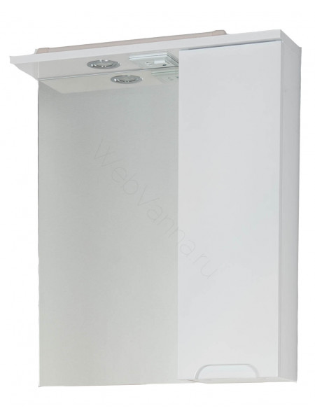Зеркало-шкаф Topline Rio 60 см, белый, с подсветкой