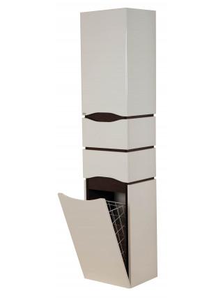 Пенал Topline Senator 35 см, белый/венге, с корзиной