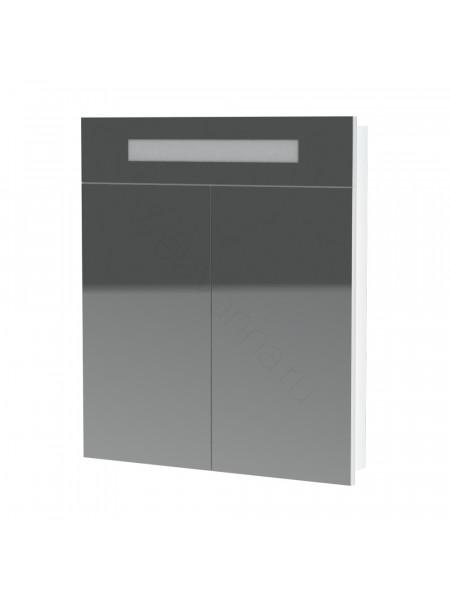 Зеркальный шкаф Topline Senator ZSS 70 W, 70 см, белый, с подсветкой