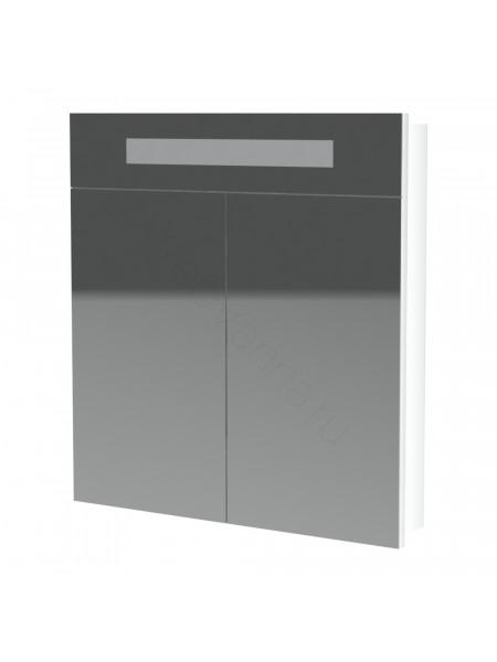 Зеркальный шкаф Topline Senator ZSS 80 W, 80 см, белый, с подсветкой