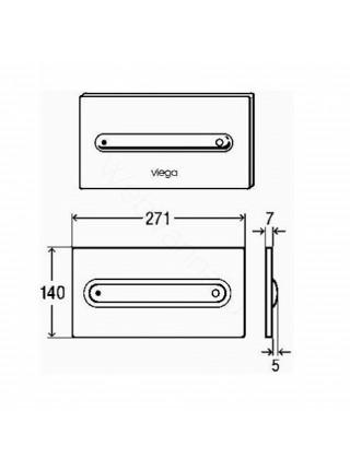 Клавиша смыва Viega Visign for Style 11, 597115, хром