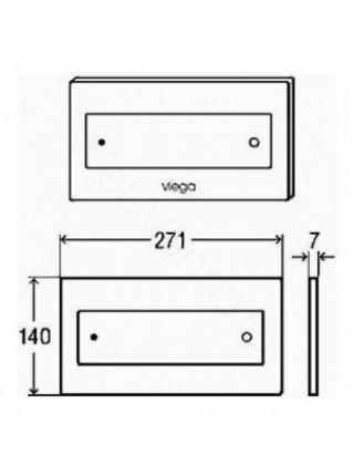 Клавиша смыва Viega Visign for Style 12, 687861, стекло черное