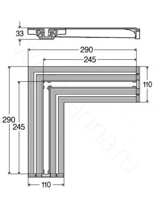 Соединительный элемент Viega Advantix Vario 708924, угол 90°, 290x290 мм