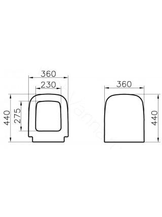 Сиденье Vitra S20 без микролифта 77-003-001