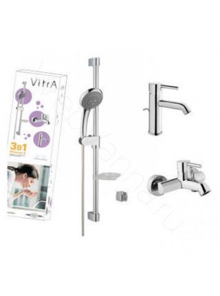 Набор смесителей Vitra Minimax S с душевой штангой A49153EXP