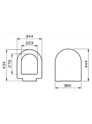 Сиденье Vitra S50 с микролифтом 72-003-309
