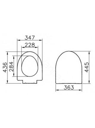 Сиденье Vitra Form500 с микролифтом 97-003-009
