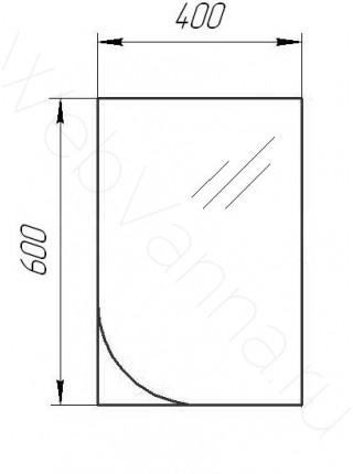 Зеркало Valente Massima M400.11, 40 см, шпон мокко