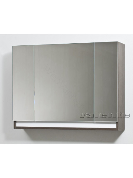 Зеркальный шкаф Valente Massima M1000.12, 100 см, шпон мокко